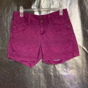 Athleta- Pink Flower Shorts with Drawstring size 2